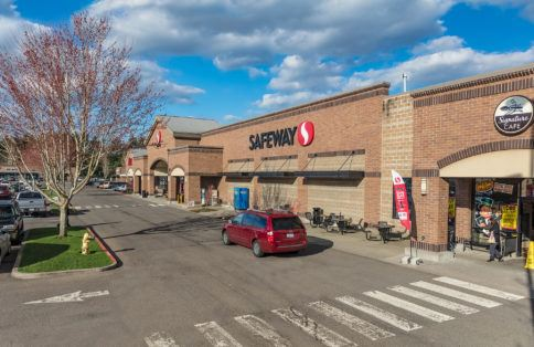 Safeway retail shopping center Vancouver